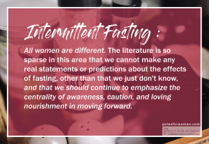 intermittent fasting women